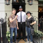This fellow's job is to stand in front of the Sherlock Holmes museum, let patrons in, and pose for photos. Poor bastard.